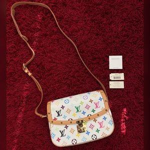 💯Auth Louis Vuitton Multicolor Sologne Crossbody